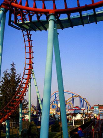 Montaña rusa en Six Flags Mexico