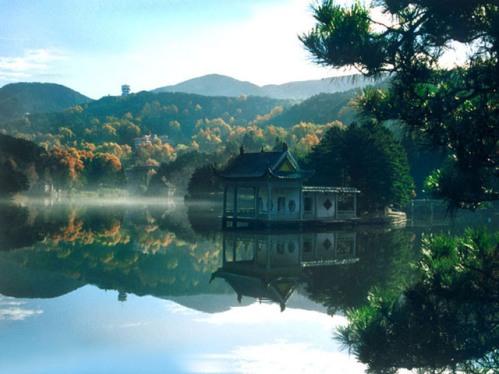 El Parque Nacional Monte Lushan, en China
