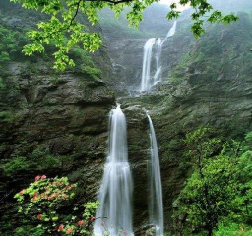 La cascada Sandiequan, Parque Natural Lushan