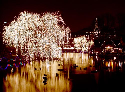 Navidad en el Parque Tivoli, en Copenhague