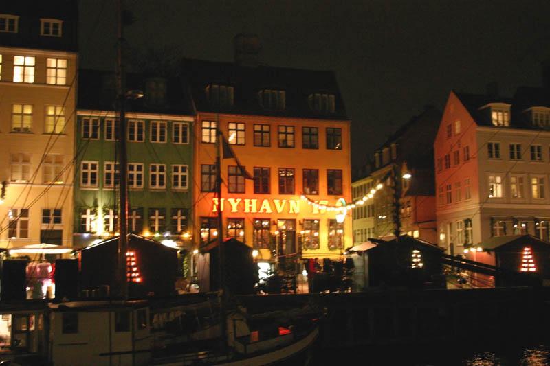 Navidad en el barrio de Nyhavn