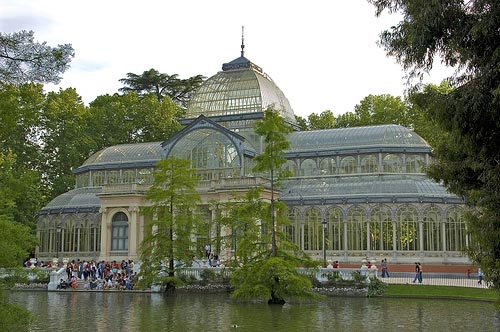 El Palacio de Cristal, en Madrid