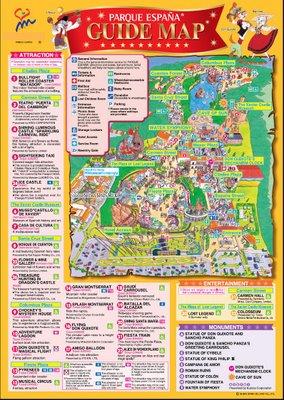 mapa parque españa