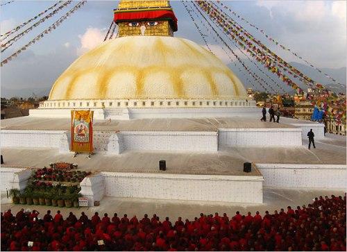 La stupa de Bodhnath, Nepal