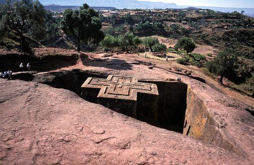 Las iglesias de Lalibela, en Etiopia