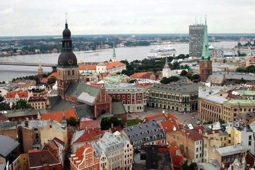 El casco historico de Riga, en Letonia