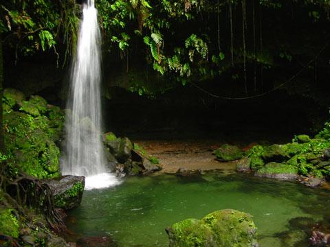 El Parque Natural de Morne Trois Pitons en Dominica