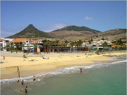 La playa de Porto Santo, en Islas Madeira