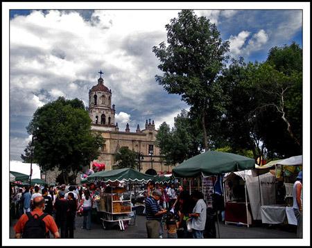 Plaza Hidalgo en Coyoacan