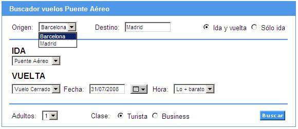 Opciones de viaje entre Madrid y Barcelona