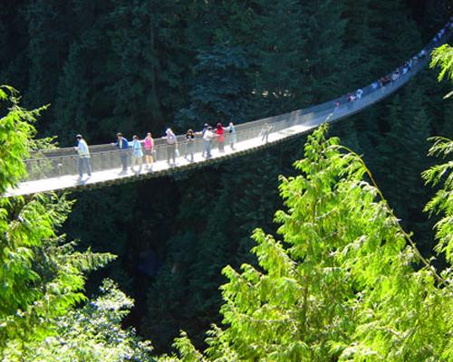 El Puente Capilano, atracción en Vancouver