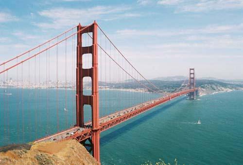 Caminando por el Golden Gate, en San Francisco