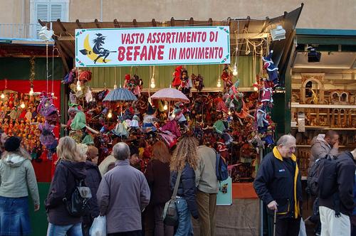 Plaza navona, Navidad en Roma
