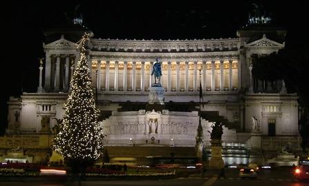 Arbol navideño, Plaza Venecia, Roma