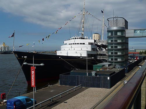 Royal Britannia, el yate real en Edimburgo