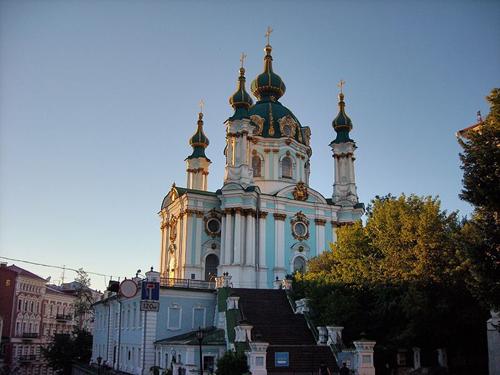 La Iglesia de San Andrés, templo sin campana en Kiev