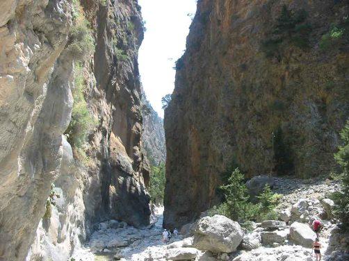 La Garganta de Samaria, en Grecia