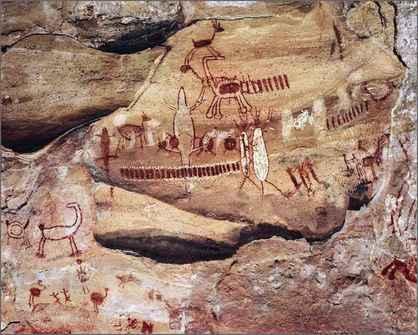 Pinturas rupestres en Serra da Capivara