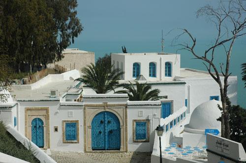 Sidi Bou Said, un pueblo blanco y azul en Túnez
