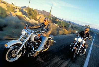 Por la ruta 66 con la Harley Davidson