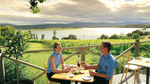 Tamar, Ruta del Vino en Australia