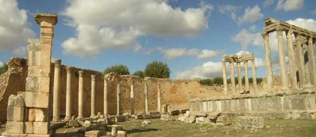Las ruinas de Cartago en Tunez