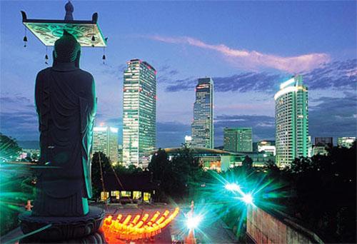 El templo Bongeunsa, en Seúl