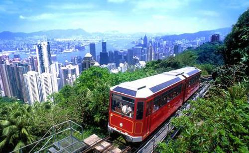 La Peak Tower mira hacia Hong Kong