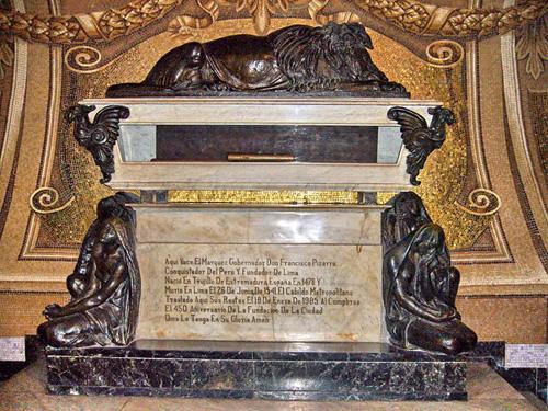 Pizarro en la Catedral de Lima