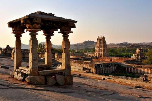 Las ruinas de Hampi, en la India