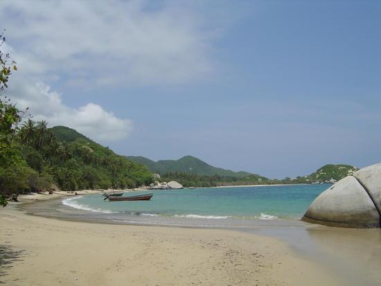 playa (la piscina) en el Parque Nacional Tayrona