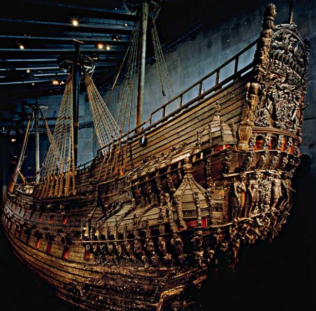 El Museo Vasa y su galeon rescatado de las aguas