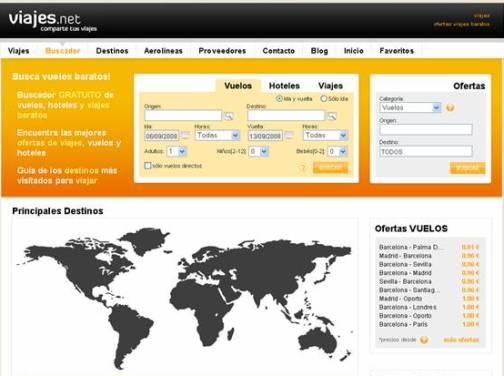 Una web para compartir viajes