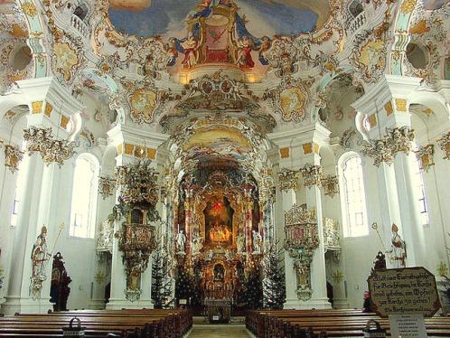La Iglesia de Wies, en Alemania